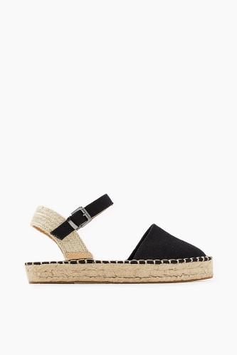Cotton:linen mix sandals esprit