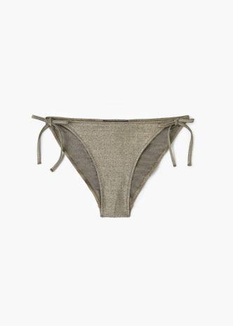 Metallic bikini bottomMango