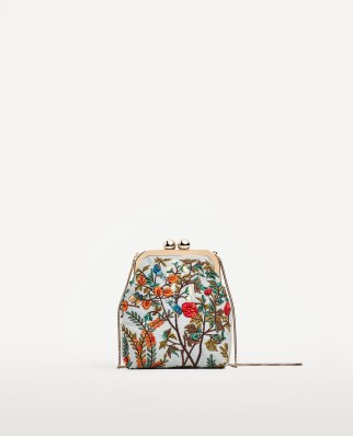 MINI EMBROIDERED CROSSBODY BAG WITH CLASPzara