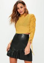 https://www.missguided.co.uk/petite-ex-chiffon-ruched-crop-top-8