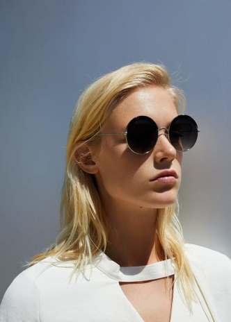 Rounded sunglasses mango