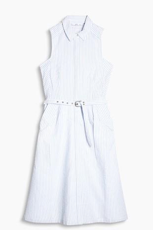 Shirt blouse dress, 100% cotton esprit