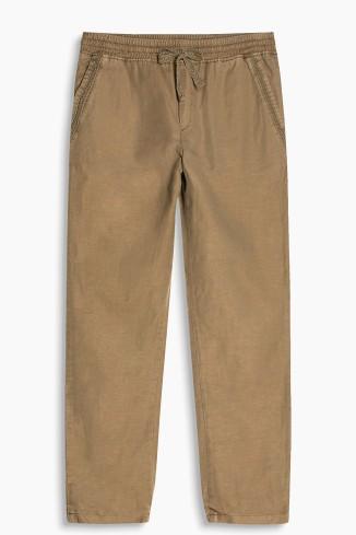 Sporty linen mix trousers esprit
